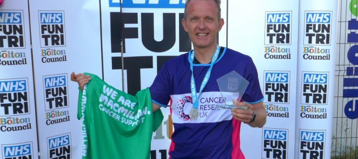 Fast track cancer doc wins senior veterans title at NHS Triathlon