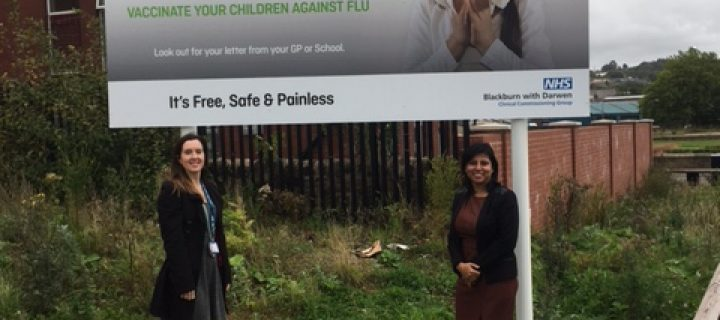 Campaign launched by the NHS in Blackburn with Darwen to protect families against flu