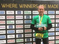 """Local cancer <span class=""""caps"""">GP</span> wins age group category at Macmillan Triathlon"""