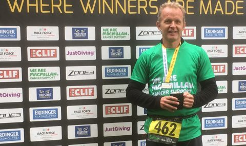 "Local cancer <span class=""caps"">GP</span> wins age group category at Macmillan Triathlon"