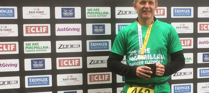 Local cancer GP wins age group category at Macmillan Triathlon