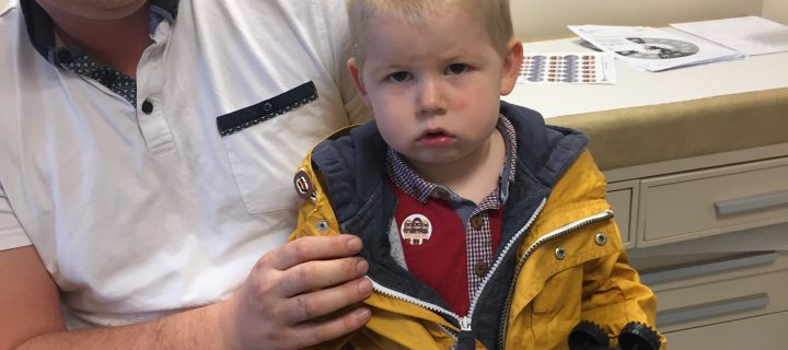 Father of toddler with breathing difficulties supports campaign for flu vaccination