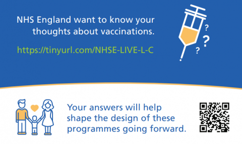 """Help shape the future of <span class=""""caps"""">NHS</span> immunisation programmes"""