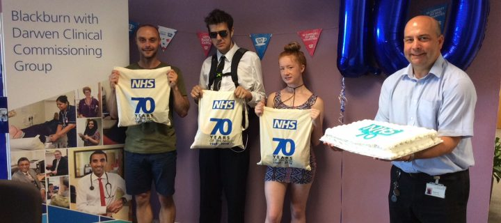 CCG staff celebrate NHS 70 by donating 100 food bags
