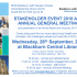 """Stakeholder Event <span class=""""amp"""">&</span> Annual General Meeting 26th September 2018"""