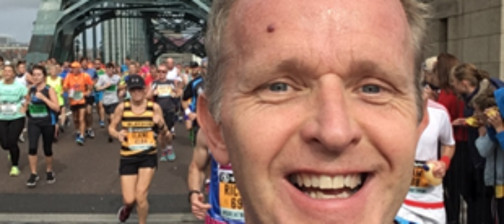 "Local cancer <span class=""caps"">GP</span> completes Great North Run to raise awareness"