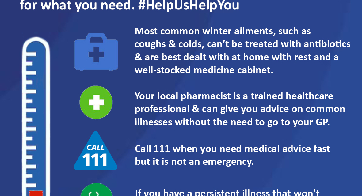 Let's get prepared and do more this winter by knowing about the range of NHS  services - NHS Blackburn with Darwen CCG