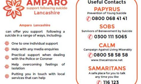 """<span class=""""caps"""">AMPARO</span> — Support following suicide"""