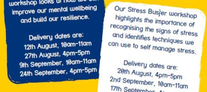 Mental well-being workshops