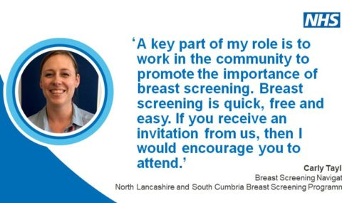 Breast screening saves lives – don't miss your appointment