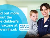 Parents urged to act on invitation for child's free flu vaccination