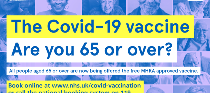 NHS in Lancashire and South Cumbria urges people aged 65 to 69 to book their vaccine this week