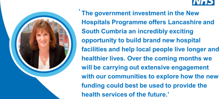 Local NHS announces Lancashire and South Cumbria New Hospitals Programme
