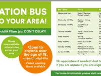 Get on board the vaccination bus! Coming to an area near you!