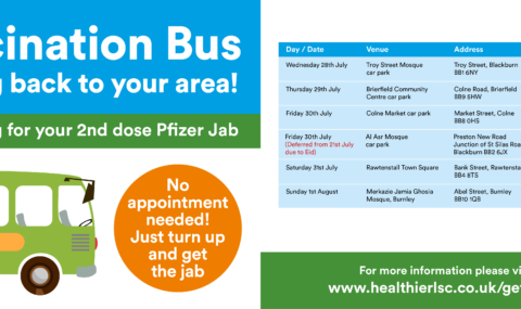 We are coming back round again! Get on board the mobile Covid-19 vaccine bus in Pennine for your second dose